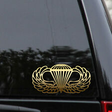 Airborne Jump Wings Decal Sticker Paratrooper Parachute Military Marines Army
