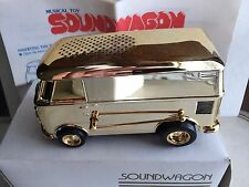 Vtg SOUNDWAGON VW BUS Gold Chrome Tamco Record Player w/Box & Instructions Works