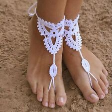 Dance Yoga Crochet Barefoot Anklet Knit Anklet Beach Foot Jewelry Sandals