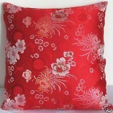 Sofa CUSHION COVER (Dull Silver Chrysanthemum) Chinese Brocade Pillow Case