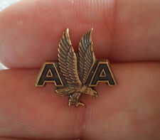 Vintage American Airlines Crew Award  Eagle Wings Pin 5 Year Service Gold Tone