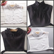 Women Fake False Collar Detachable Peter Pan Lapel Cotton Shirt Choker Necklace