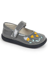 See Kai Run Tricia Gray And Yellow Patent Leather Toddler Girls Mary Jane Shoes