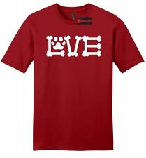 Love Dogs Mens Soft T Shirt Dog Bone Puppy Animal Lover Gift Ringspun Tee Z2
