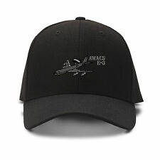 E-3 Aircraft Name Embroidery Embroidered Adjustable Hat Cap
