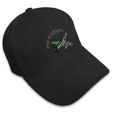 P-51 Mustang Aircraft Name Embroidery Embroidered Adjustable Hat Cap