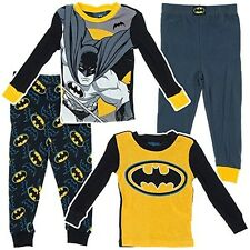 Batman Boy's Pajamas 2-piece Sleep Set Cotton Snug Fit Glow in the Dark Ink