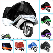 XXL Motorcycle Waterproof Outdoor Motorbike Rain Bike Cover XL Black