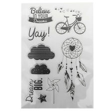 Silicone Rubber Clear Stamp Seal Cling Scrapbooking Diary Card Making Kids Craft