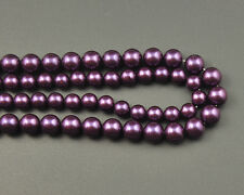 Natural Shell Pearl Beads Purple Gemstone Bead In Bulk Round Bead 8mm 10mm 12mm