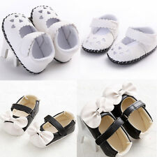 Fashion Toddler Girl Crib Shoes Heart Bowknot Soft Sole Anti-slip Princess Shoes