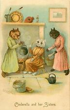 "Louis Wain Cinderella & Her Sisters Cat Art Print, Cat Decor 4 x 6"" - 16 x 24"""