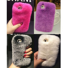 Chic Luxury Warm Soft Rabbit Fur Case Cover For Apple iPhone 4S/6/6 Plus