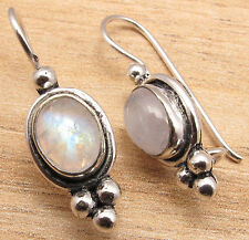 925 Sterling Silver Plated Gemstone CHOICES Oxidized Earrings Engagement Jewelry