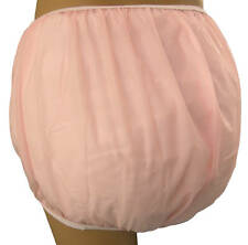 Baby Plastic Pants in Adult Sizes Pastel Pink Bedwetter