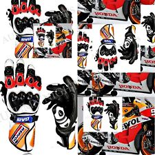 2017 HONDA REPSOL MOTORCYCLE MOTORBIKE LEATHER RACE RACING TRACK SPORTS GLOVES