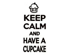 Decal Vinyl Truck Car Sticker - Keep Calm And Have A Cupcake