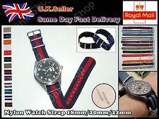 Brand New 18/20/22mm Mens/Ladies Canvas Nylon Wrist watch Strap Band