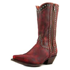 Dan Post Studded Cowgirl   Square Toe Leather  Western Boot