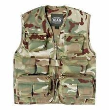 Kids Army Multi Terrain Camouflage Action Vest Ages 3-8 Roleplay Fancy Dress