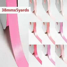 "5 Yards Single Sided YAMA High End Satin Ribbon 1.5"" /38mm. Pink s"