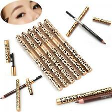 Waterproof Cosmetic Leopard Eyeliner Makeup Eyebrow Pencil Brush