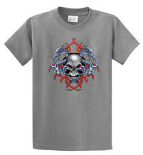 Skull Dragons Mens Biker Graphic Tees Reg to Big and Tall Sizes Port and Company