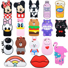 3D Cute Cartoon Fashion Cat Bear Soft Silicone Case Cover Back Skin For iPhone