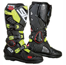 NEW SIDI CROSSFIRE 2 SRS MX  DIRT BIKE OFFROAD BOOTS FLO YELLOW/BLACK ALL SIZES