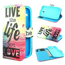 G19 Wallet Leather Card Holder Flip Stand Magnet Skin Case Cover for Many Phone