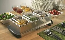 Ovente 3-Tray Buffet Server w/Stand Alone Warming Tray by Intertek     FREE SHIP