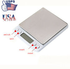 0.1Gram Precision Jewelry Electronic Digital Balance Weight Pocket Scale 2/3000g