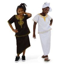 Girls African Embroidered Brocade Skirt Set
