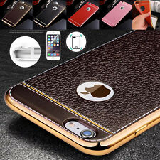 Luxury Ultra Thin Shockproof Leather Back Case Cover For Apple iPhone 6S 7 Plus