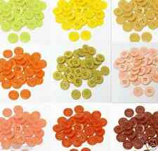 "23mm 7/8"" SZ 36 Plastic Coat Buttons YELLOW TO RUST 10-90 buttons Retail"