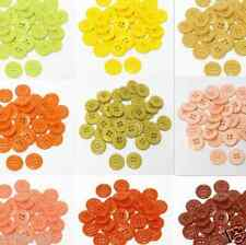 "15mm 5/8"" SZ 24 Small Plastic Coat Buttons YELLOW TO RUST 10-90 buttons Retail"