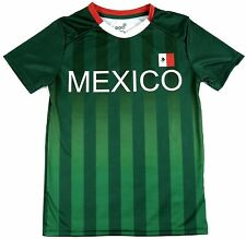 Men's Team Mexico Federation Soccer Jersey Shirt Performance Tee Adult