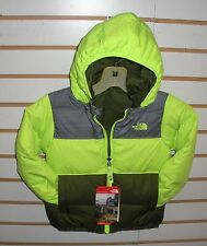 THE NORTH FACE TODDLER BOYS REVERSIBLE MOONDOGGY DOWN JACKET- A2TN9-SAFETY GREEN