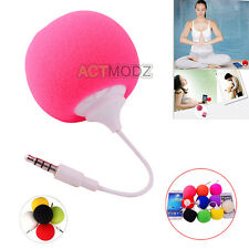 3.5mm Sponge Ball Music Mini Audio Speaker for iphone 4 5s Samsung Laptop MP4