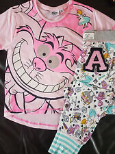 Disney's Alice In Wonderland Girls Pink Cotton Pyjama Set Age 7-13 BNWT