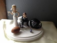 Atlanta Falcons Cake Topper Bride Groom Wedding day NFL Funny Football Theme