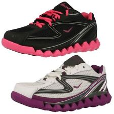 'Ladies Ascot' Rounded Toe Lace Up Trainers - Spring Wave