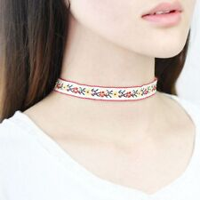 Flower Collar Embroidery Jewelry Bohemian Choker Ethnic Necklace