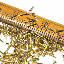 8-10mm x 1.0mm(G18) Small Solid Brass Tack Nails, Escutcheon Pins, Brads