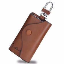 New Men's Leather Key Holder Case Keychain Wallet Purse Key Ring Card Money Clip