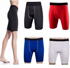 Compression Shorts Mens Boys Base Layer Thermal Sport Skins Under Gear Pants Gym