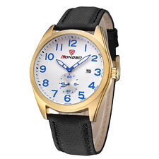 Fashion Watches Leather Military Watches Quartz Date Calendar Mens Watches
