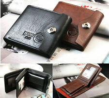 Cool  Men's  Wallet Leather Bifold ID Cards Holder Coin Pocket Slim Purse Bag