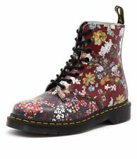 New Dr. Martens Pascal Floral 8 Eye Boot Multi Women Shoes Casuals Boots Flats