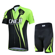 CSP15 Design Bicycle Bike Cycling Jersey Short Sleeves Set For Kids Boys Girls